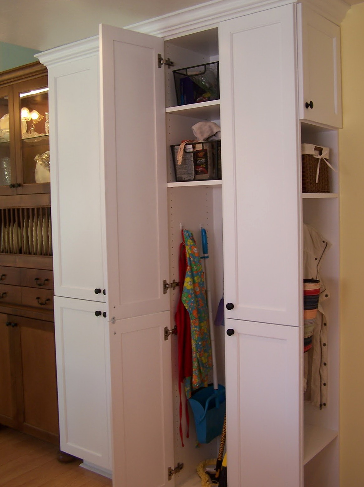 Broom Closet Cabinet Storage Home Design Ideas