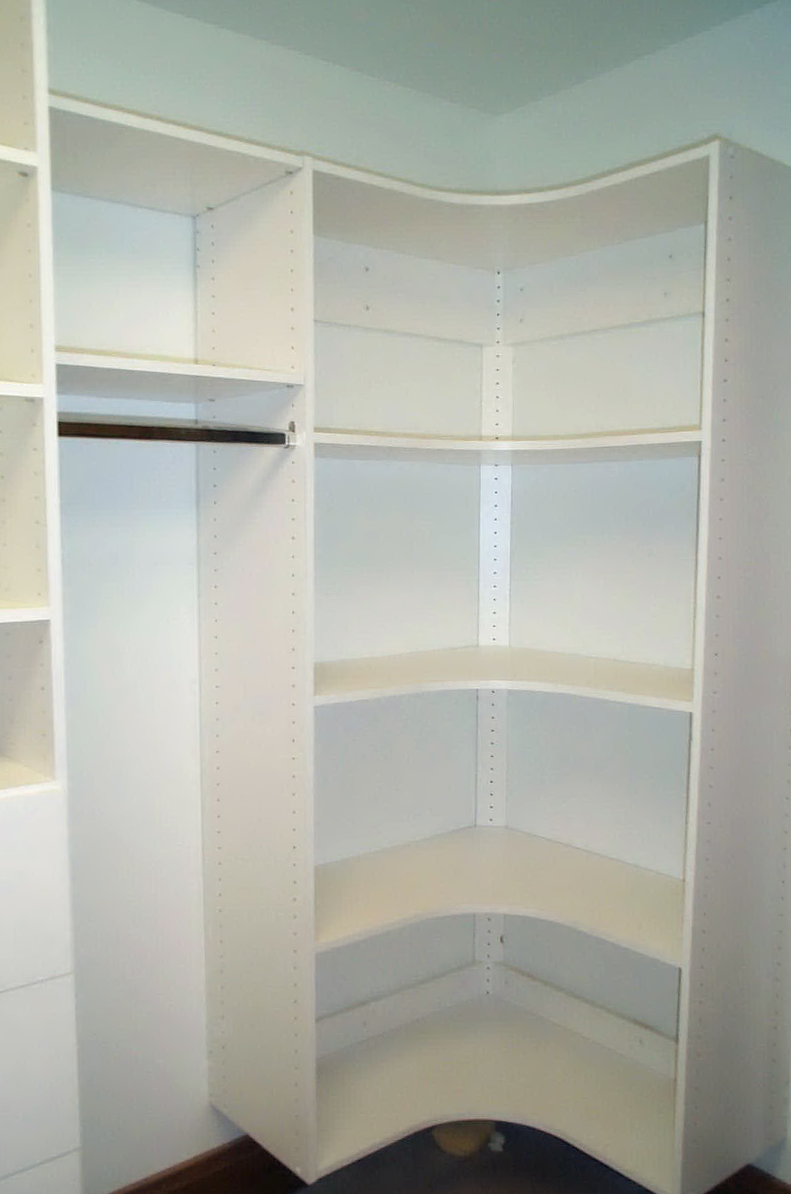 Small Corner Closet Organizer Home Design Ideas