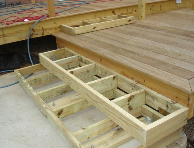 Building Deck Stairs Without Stringers Home Design Ideas