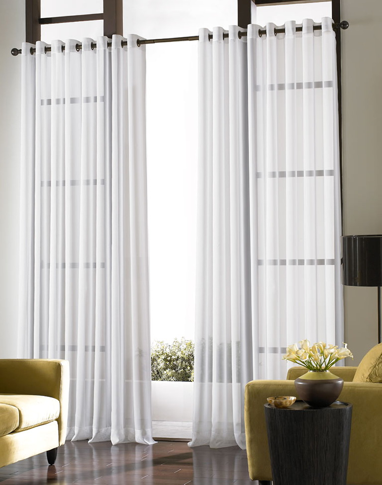 White Sheer Curtains With Designs Home Design Ideas