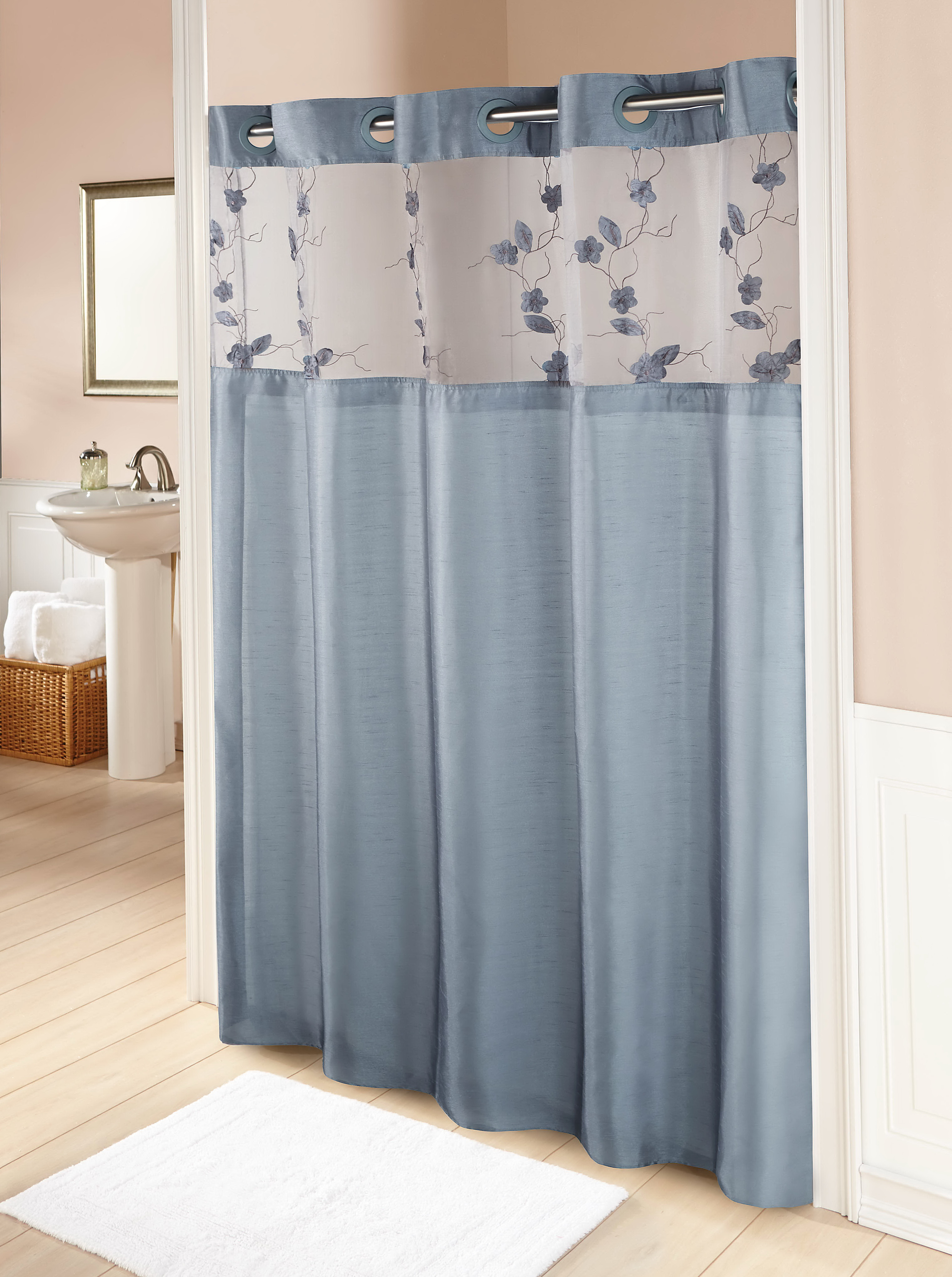 Grey And Blue Shower Curtains Home Design Ideas