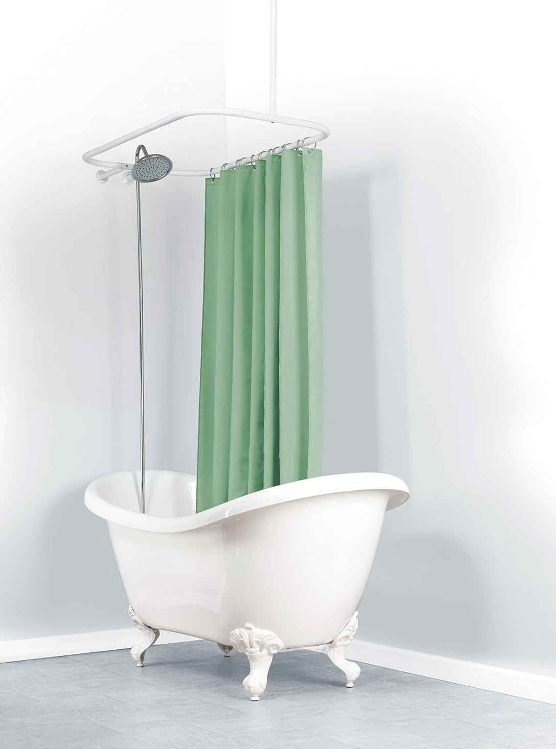 Shower Curtain Rod For Clawfoot Tub Canada Home Design Ideas