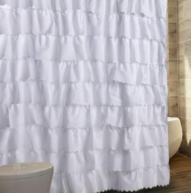 White Cotton Shower Curtain Target Home Design Ideas