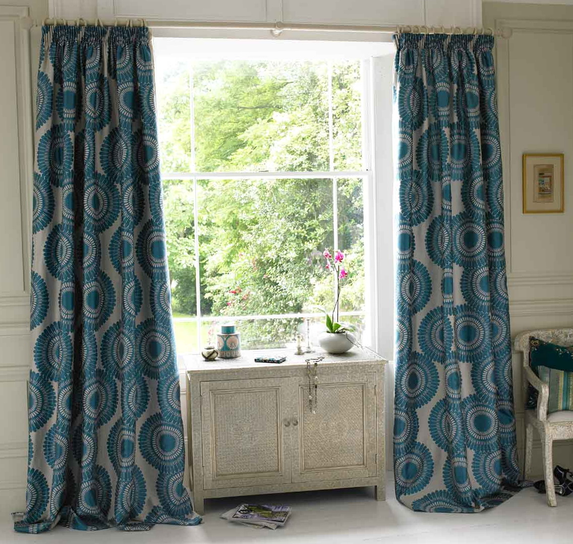 Teal Patterned Curtains Uk Home Design Ideas