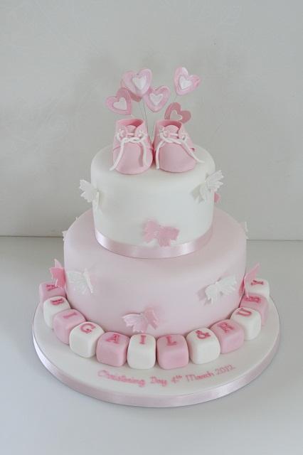 Baby Boy Christening Cake Decorations