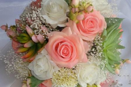 Artificial bridal bouquets flowers online 2018 flowers online wedding flowers london silk bridal flowers for weddings silk bridal posy bouquet in mixed silk flowers fuchsia pink ivory silk bridal posy bouquet in mixed mightylinksfo