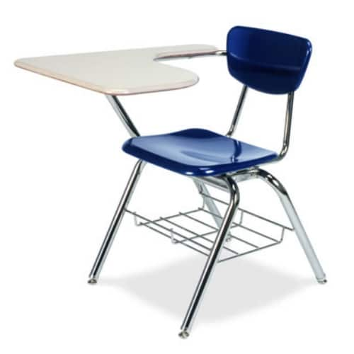Chair Desks   Student Combo Desks   The Furniture Family 3700BR Virco Hard Plastic Combo Desk with BookRack