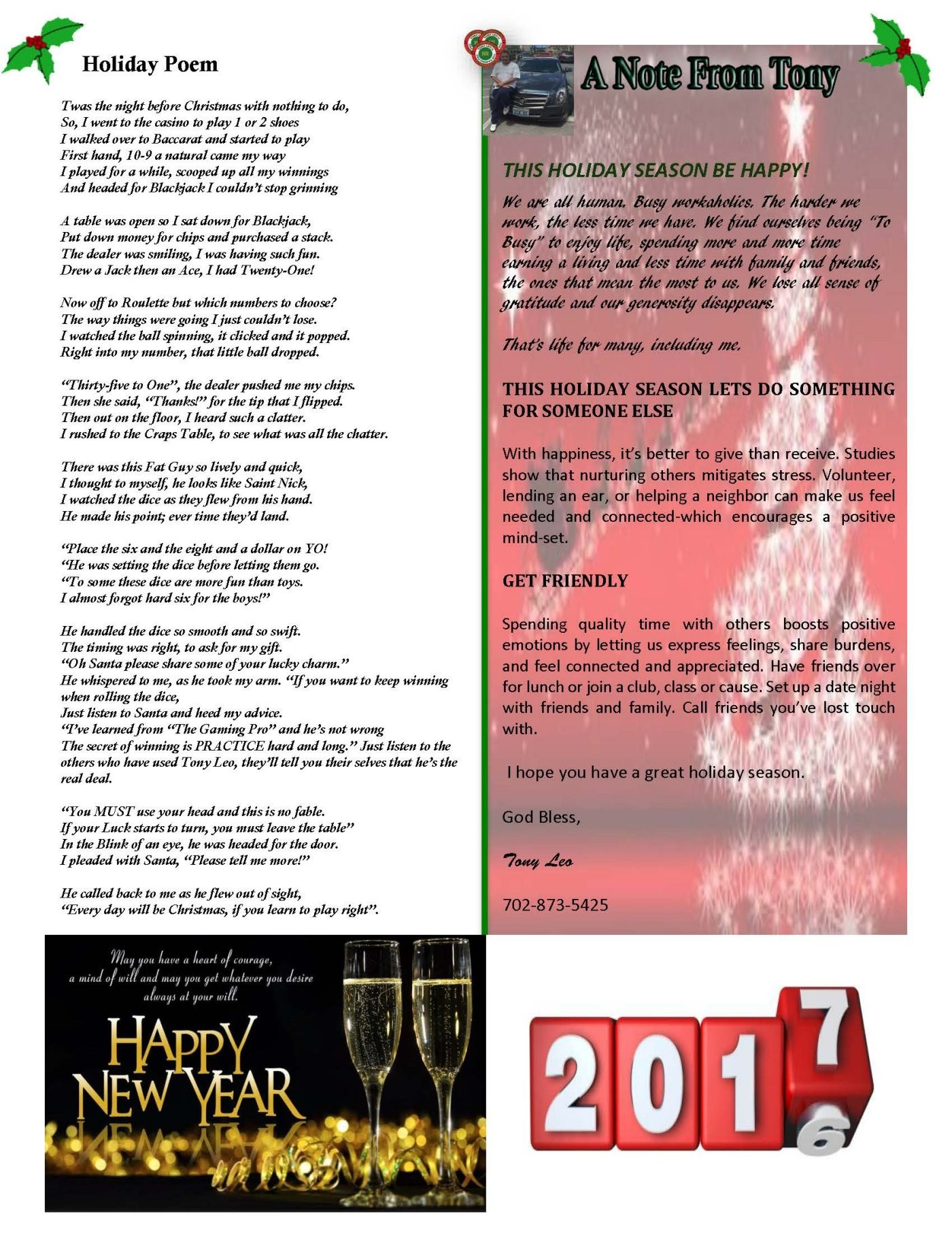 holiday newsletter templates pages