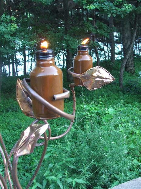 Metal Tiki Torches