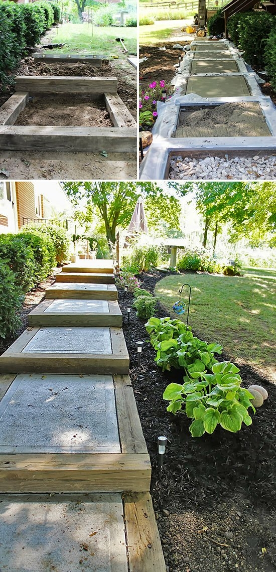 Step By Step Diy Garden Steps Outdoor Stairs • The Garden Glove | Outdoor Garden Under Stairs | Small | Crosstie | Gardening | Landscaping | Lawn