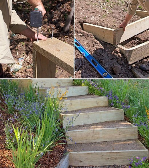 Step By Step Diy Garden Steps Outdoor Stairs • The Garden Glove | Repairing Outdoor Wooden Steps | Stair Stringer | Concrete Slab | Deck Stairs | Concrete Porch | Deck
