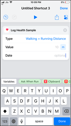 Create Shortcuts with Ask When Run variable