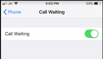 activate call  waiting on iPhone