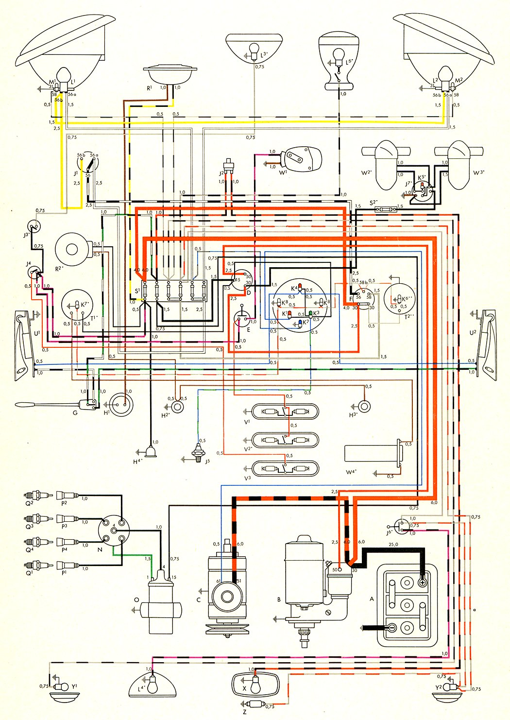 1970 Vw Bus Parts Diagram Trusted Schematics Furthermore Beetle Engine On 79