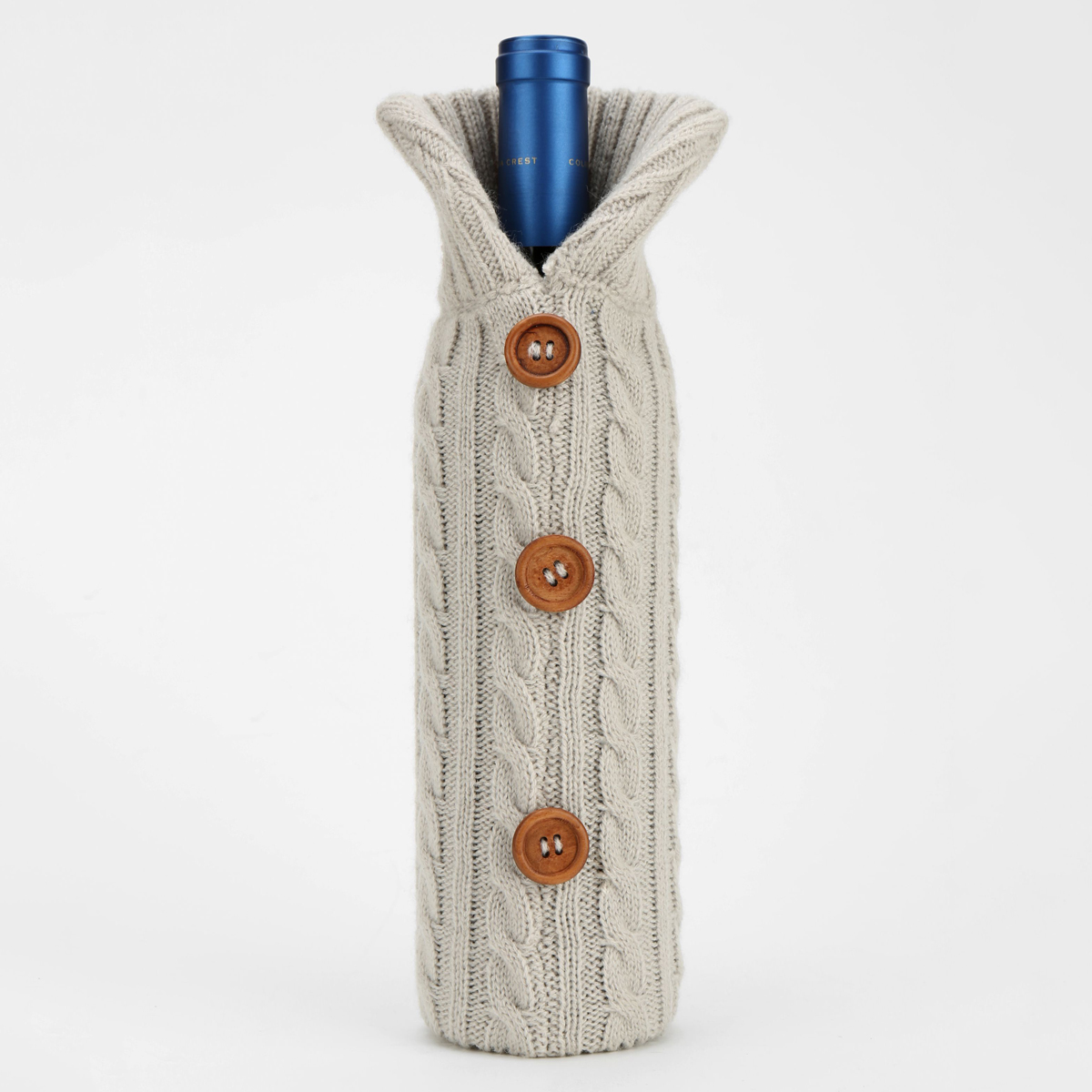 Cable Knit Wine Bottle Cover Pattern