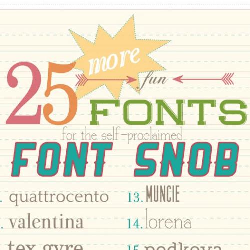 font snob club : 25 more fun fonts {september 2012}