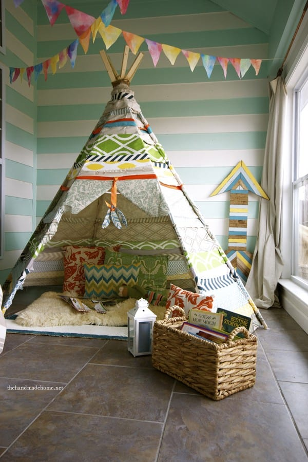 easy diy no sew teepee