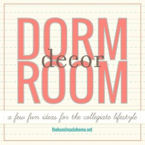 dorm room decor : easy lampshades + pillows