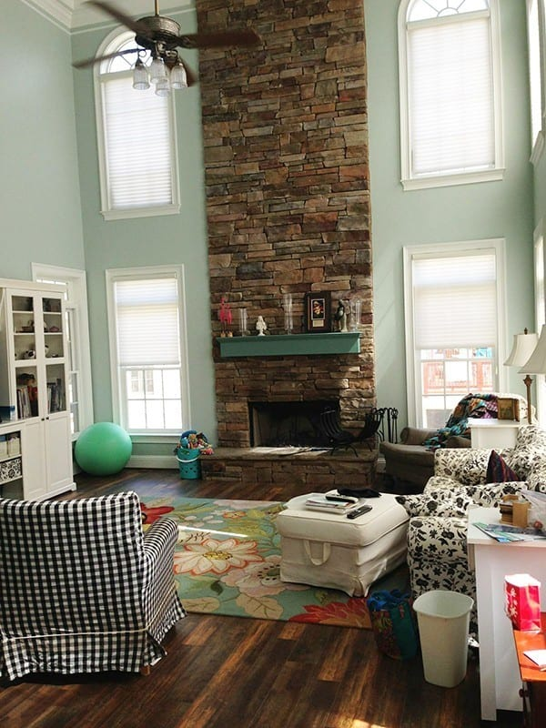 Solutions For A Two Story Living Room The Handmade Home