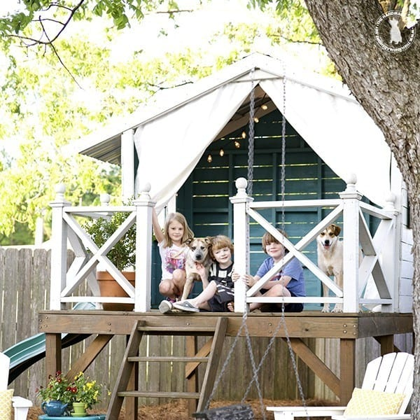 tips for creating an outdoor space - tree house