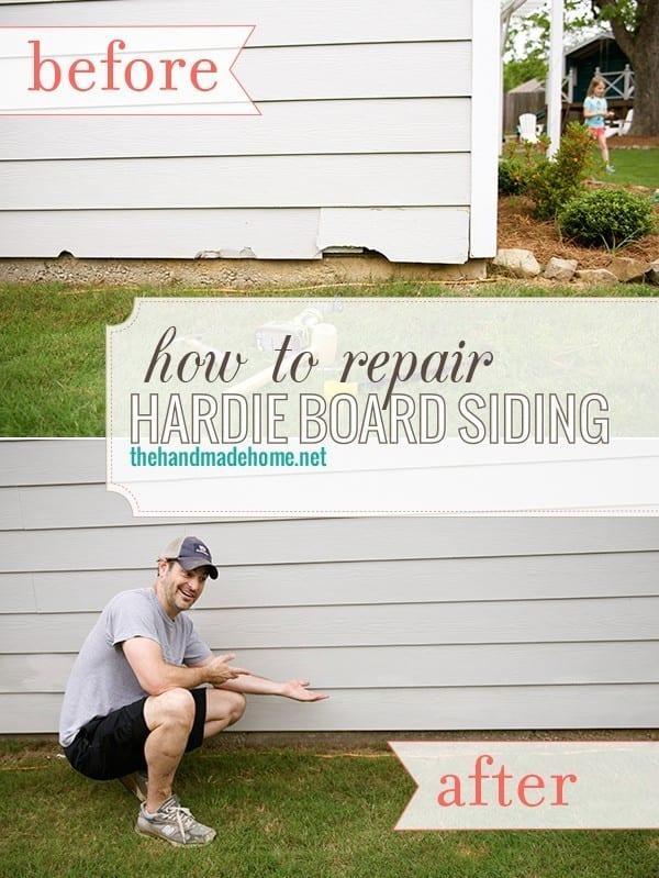 ho to repair hardie board siding