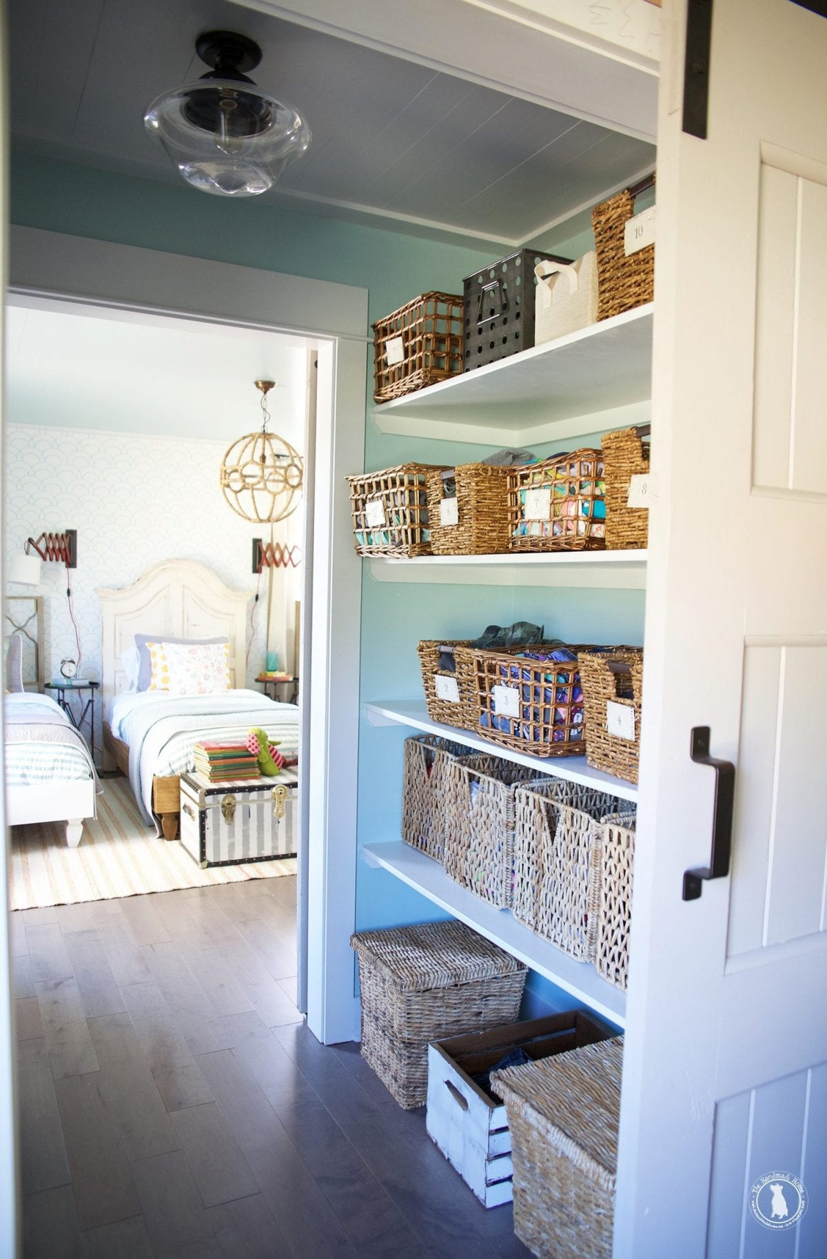 how to shiplap your ceilings closet walkthrough