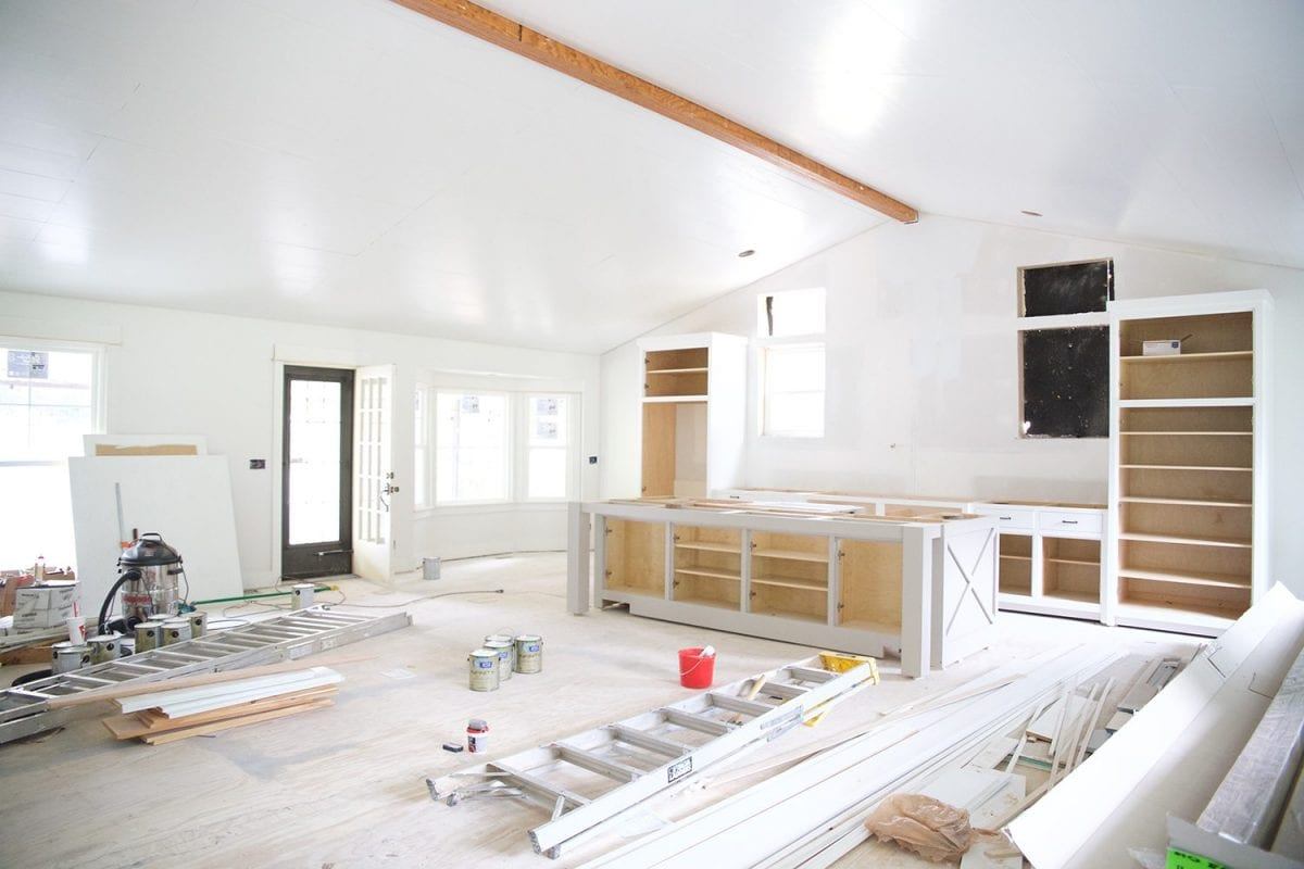 how to shiplap your ceilings - after