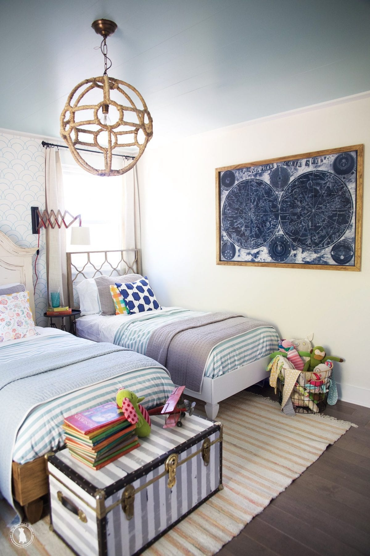 how to shiplap your ceilings - kids_space_shared-rooom_bys_and_girls