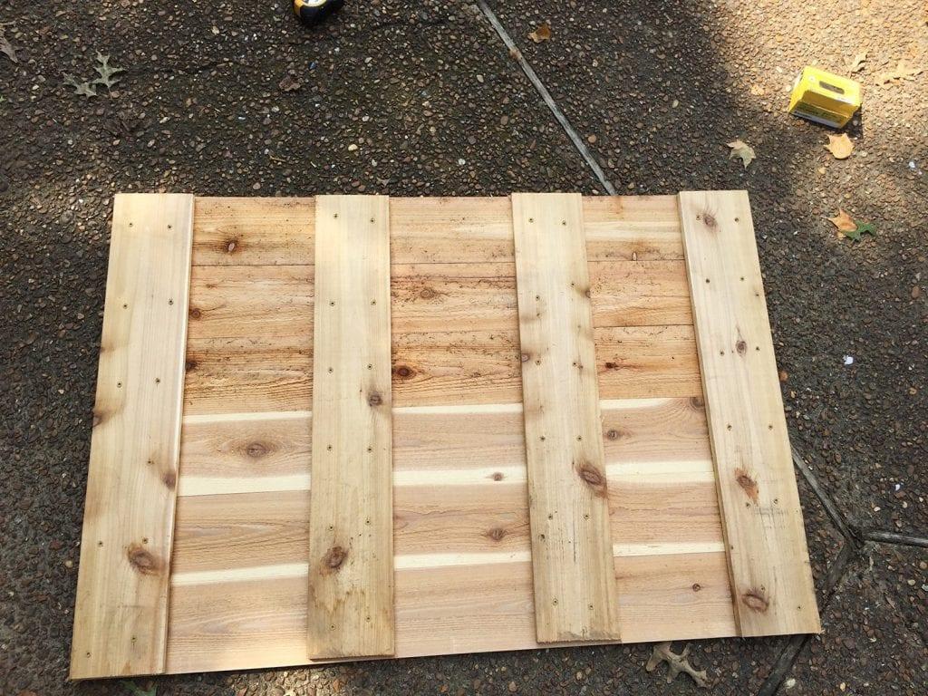 how to build a basketball goal - bracing the backboard