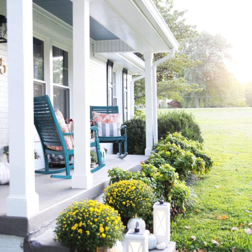 our fall porch and kichler bluetooth lanterns