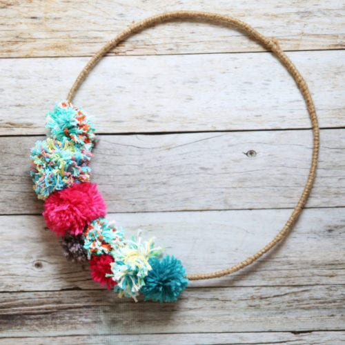 pom pom wreath an easy diy