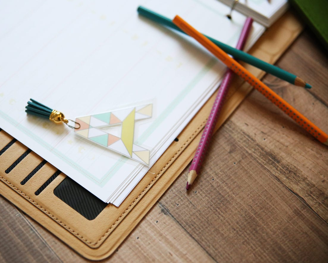 planner monogram bookmarks free