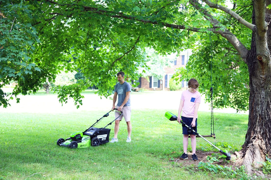 is battery powered lawn equipment better