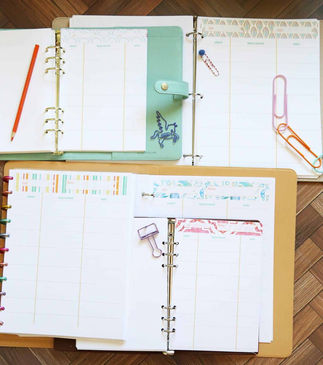 free lesson planner pages