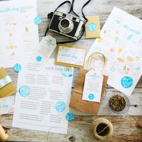free earth day printables and family activities