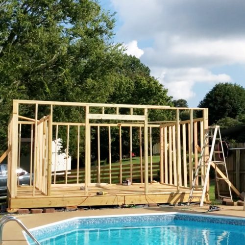how to build a cabana: the framing