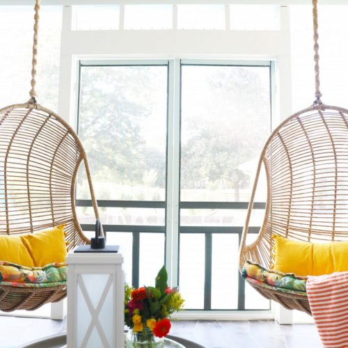 how to cover porch swing chains