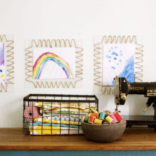 how to make an acrylic woven frame