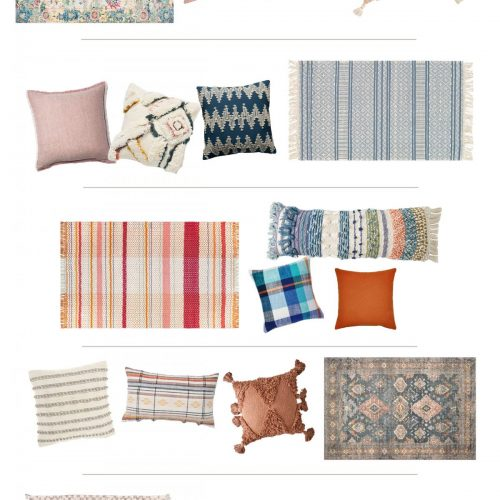 rug + pillow combos for easy color