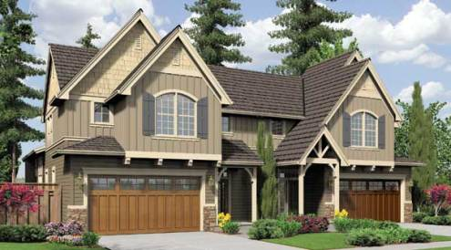 Multi family house plans  duplex apartments   townhouse floorplan Multi Family House Plans