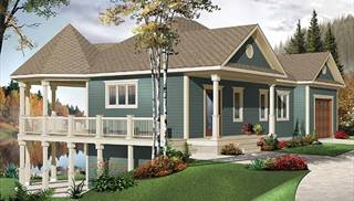 Lake House Plans   Home Designs   The House Designers image of The Trail Seeker 4 House Plan