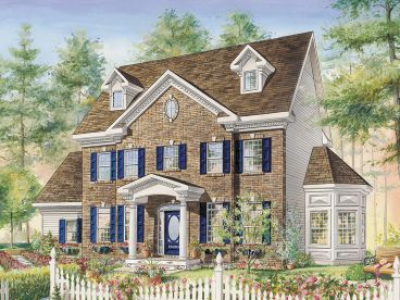 Colonial House Plans   The House Plan Shop Colonial House Plan  072H 0236