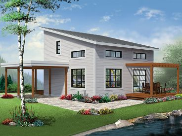 Plan 027H 0457   Find Unique House Plans  Home Plans and Floor Plans     Small Modern House Plan  027H 0457