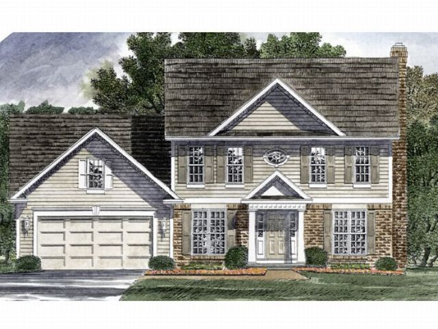 Colonial House Plans   The House Plan Shop Colonial Home Plan  014H 0052