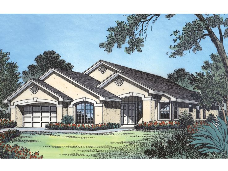 Plan 043H 0055   Find Unique House Plans  Home Plans and Floor Plans     Ranch House Design  043H 0055
