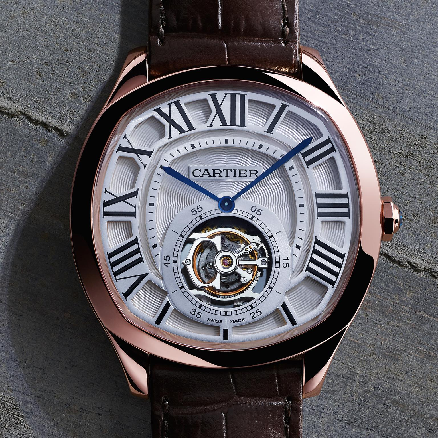 Drive de Cartier tourbillon watch in rose gold   Cartier   The     Cartier Drive watch in rose gold