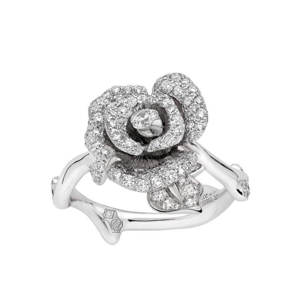 Rose Dior Bagatelle diamond ring in white gold   Dior   The     Rose Dior Bagatelle diamond ring in white gold