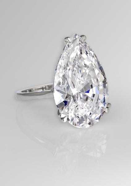 How to buy a diamond engagement ring  the enduring allure of the     David Morris 22 22ct pear cut diamond engagement ring