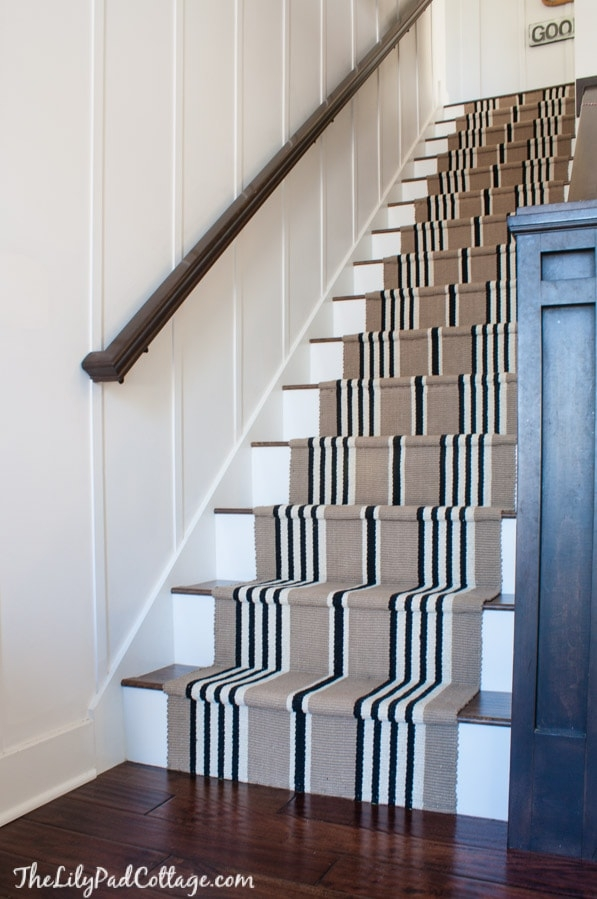 Stairway Makeover Swapping Carpet For Laminate The Lilypad Cottage   Replacing Old Basement Stairs   Stair Railing   Staircase Remodel   Staircase Railings   Stair Tread   Stair Risers