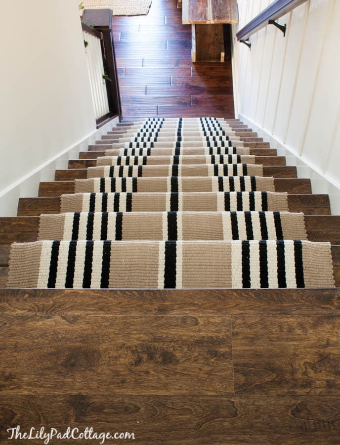 Stairway Makeover Swapping Carpet For Laminate The | Carpet Tiles For Steps